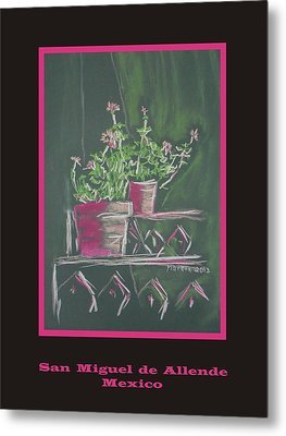 Poster - Green Geranium Metal Print by Marcia Meade