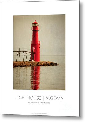 Poster - Lighthouse In Algoma Metal Print by Mary Machare