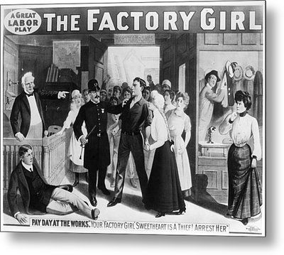 Poster The Factory Girl Metal Print