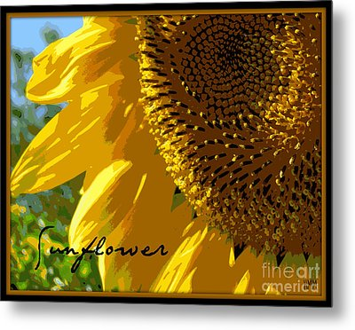 Metal Print featuring the photograph Posterized Sunflower by Heidi Manly