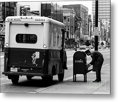 Metal Print featuring the photograph Postman by Tom Brickhouse