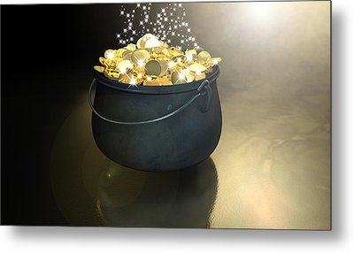 Pot Of Gold Metal Print by Allan Swart