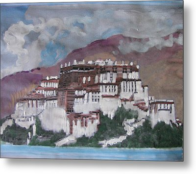 Potala Palace In Lhasa Tibet Metal Print by Vikram Singh
