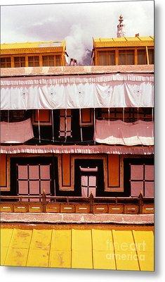 Potala Palace Rooftop - Lhasa Tibet Metal Print by Anna Lisa Yoder