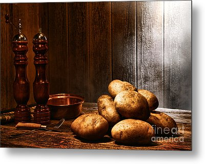 Potatoes Metal Print by Olivier Le Queinec