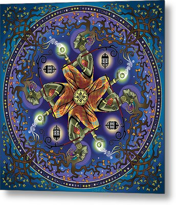 Potential Mandala Metal Print by Cristina McAllister