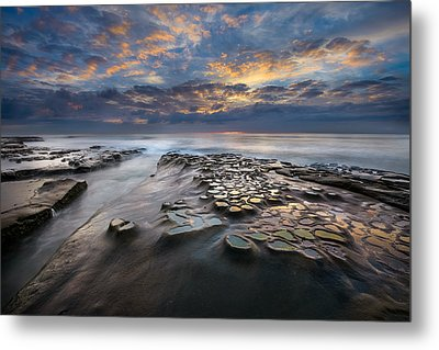 Pothole Sunset Metal Print