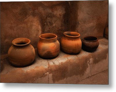 Metal Print featuring the photograph Pots ... by Chuck Caramella