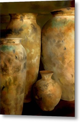 Metal Print featuring the painting Pots Of Time by Michael Pickett