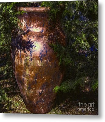 Metal Print featuring the photograph Potters Clay by Jean OKeeffe Macro Abundance Art
