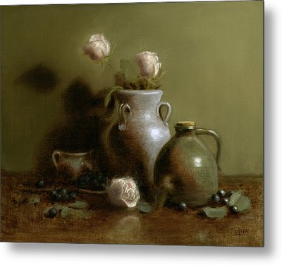 Pottery Collection. Metal Print by Christy Olsen