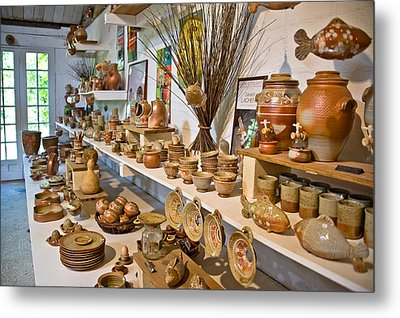 Pottery In La Borne Metal Print by Oleg Koryagin