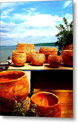 Pottery Market Diessen Metal Print by The Creative Minds Art and Photography