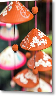 Pottery Wind Chimes With Vietnamese Metal Print by Peter Adams
