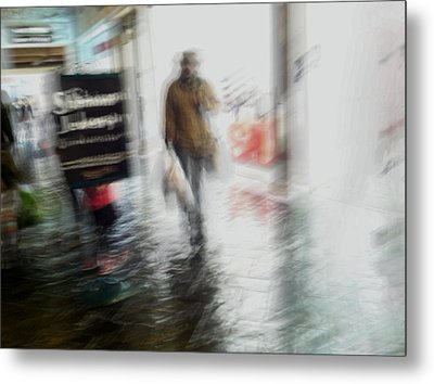 Metal Print featuring the photograph Pounding The Pavement by Alex Lapidus