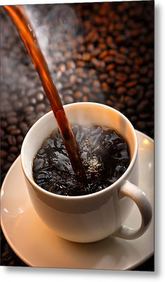 Pouring Coffee Metal Print by Johan Swanepoel