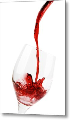 Pouring Red Wine Metal Print by Chevy Fleet