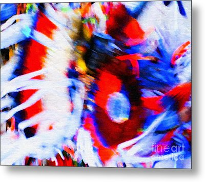 Pow Wow Abstract Metal Print by Susan Parish