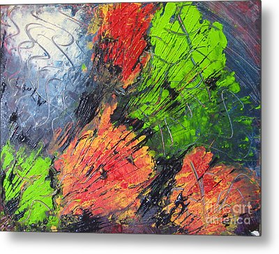 Metal Print featuring the painting Powder And Puff by Lucy Matta