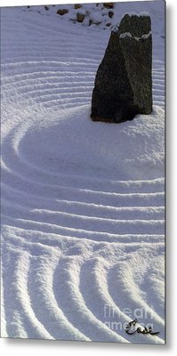 Powder In Zen One Metal Print by Feile Case