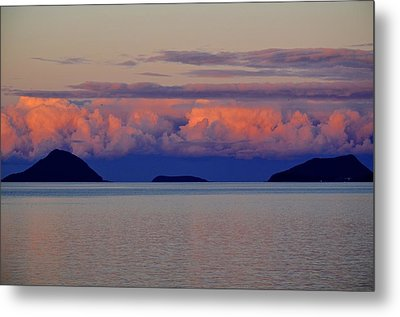 Powdered Sky Metal Print