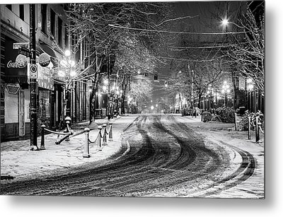 Powell And Carrall Street In Gastown Metal Print by Alexis Birkill