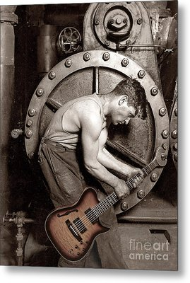 Power Chord Mechanic Metal Print by Martin Konopacki