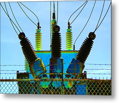Electrical Wires Metal Print by Laurie Tsemak