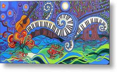 Power Of Music II  Metal Print
