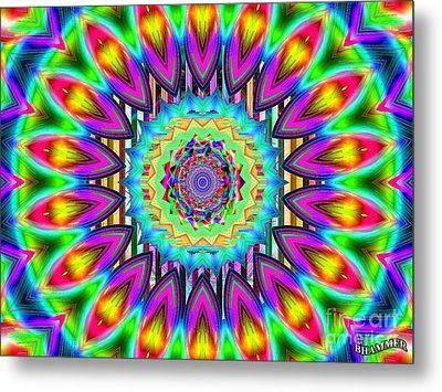 Power Of The Flower Metal Print by Bobby Hammerstone
