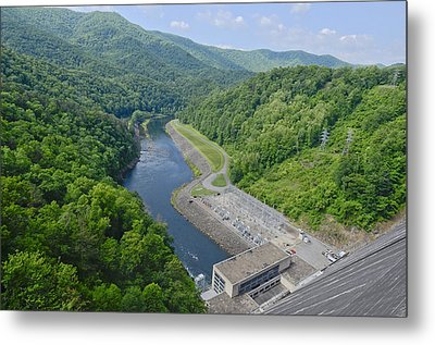Power Plant And River Metal Print