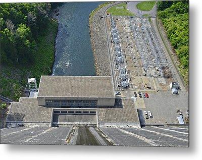 Power Plant Below Dam Metal Print