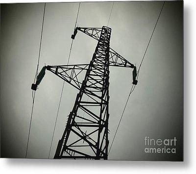 Power Pole Metal Print by Bernard Jaubert