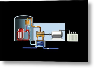 Power Station, Artwork Metal Print by Science Photo Library