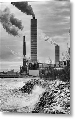 Metal Print featuring the photograph Power Station by Ricky L Jones