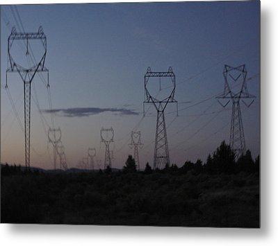 Power Towers Metal Print