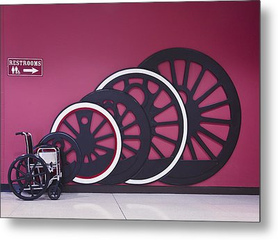 Power Weelchair Metal Print by Francisco Garabitos