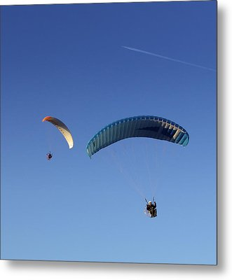 Metal Print featuring the photograph Powered Parachute by John Swartz