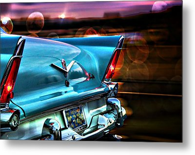 Classic Car Metal Print featuring the photograph Powerflite by Aaron Berg