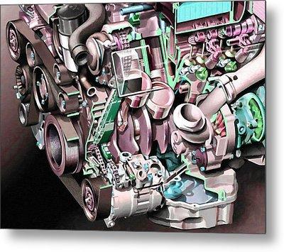 Powerful Car Engine  Metal Print by Lanjee Chee