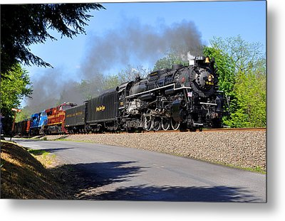 Powerful Nickel Plate Berkshire Metal Print