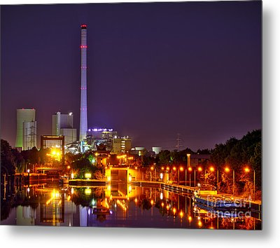 Powerhouse In A Sea Of Lights Metal Print