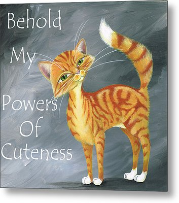 Powers Of Cuteness Metal Print by Heather Bradley