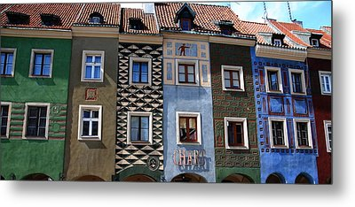 Poznan Town Houses Metal Print by Jacqueline M Lewis