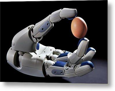Pr2 Robot Hand Holding An Egg Metal Print