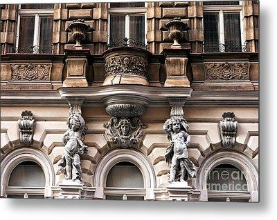 Prague Architecture Metal Print by John Rizzuto
