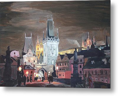 Prague Charles Bridge - Karluv Most Metal Print by M Bleichner