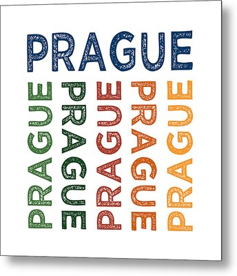 Prague Cute Colorful Metal Print