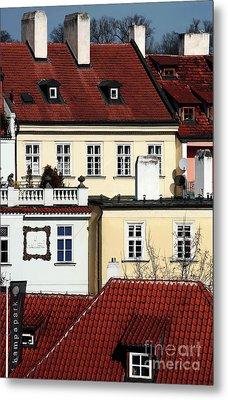 Prague Houses Metal Print by John Rizzuto
