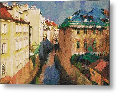 Prague Like Venice 2 Metal Print